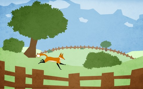Second prototype : you play as a fox, running through the countryside