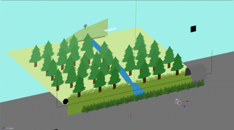 isometric view of the 3D approach of making levels