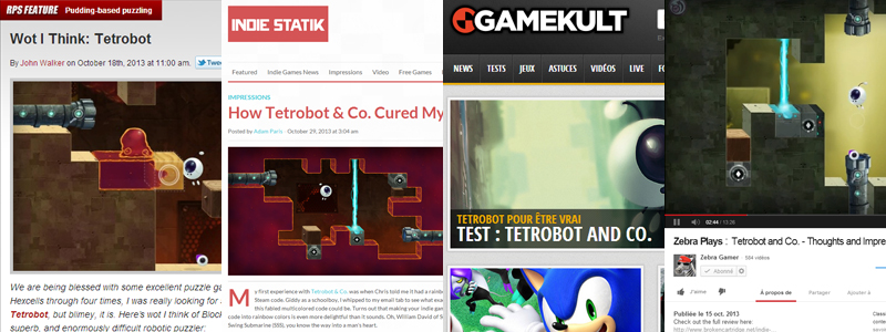 Tetrobot and Co. Review Round-up